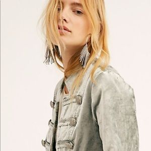 Free People velvet fitted jacket